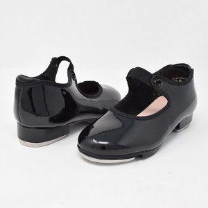 Capezio Tap Shoes Black Patent Leather Child 10